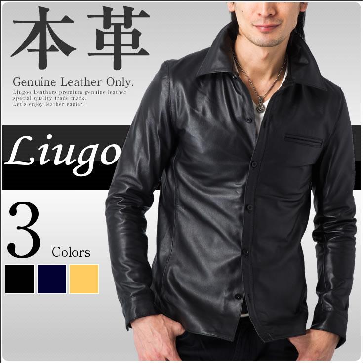 180cf89104950 レザーシャツ メンズ 本革 リューグーレザーズ SHT01A その他 レザージャケット・革ジャンの通販 リューグー